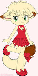 Cute Kitty With The Red Dress On by TomFraggle