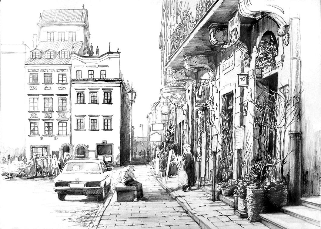 warsaw old town by hipiz