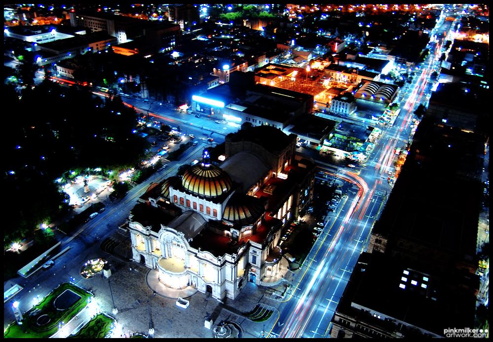 Palacio de Bellas Artes Mexico by pinkmilkerartwork