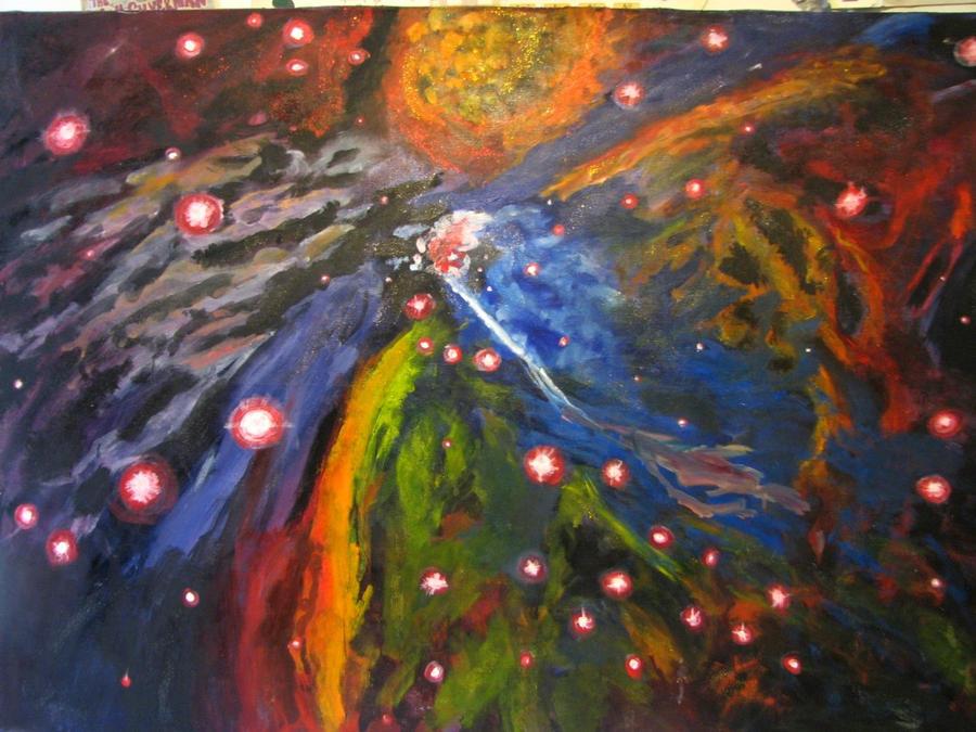 Orion Nebula by Crayongie on DeviantArt