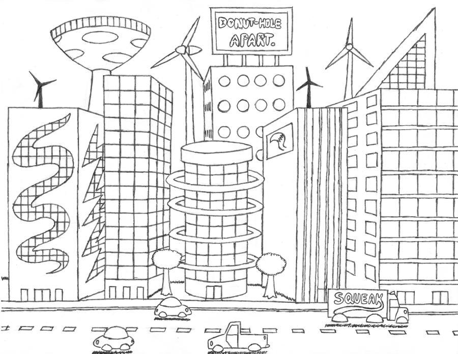 Futuristic Buildings D Models