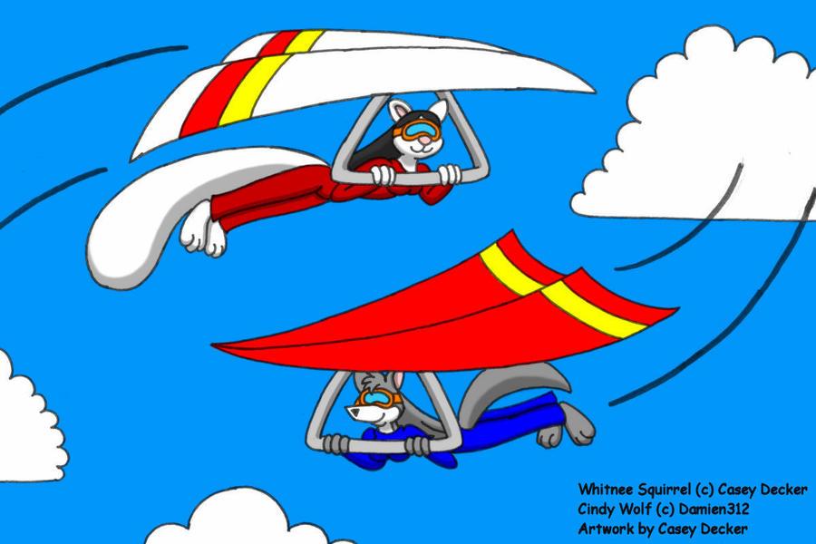 Hang-Gliding Gals