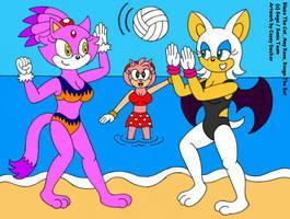 Sonic Girls At The Beach by CaseyDecker