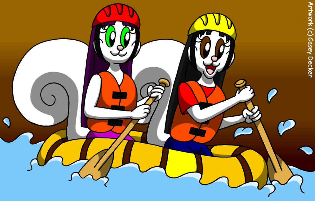 Squirrel Sisters Whitewater Rafting By CaseyDecker On DeviantArt
