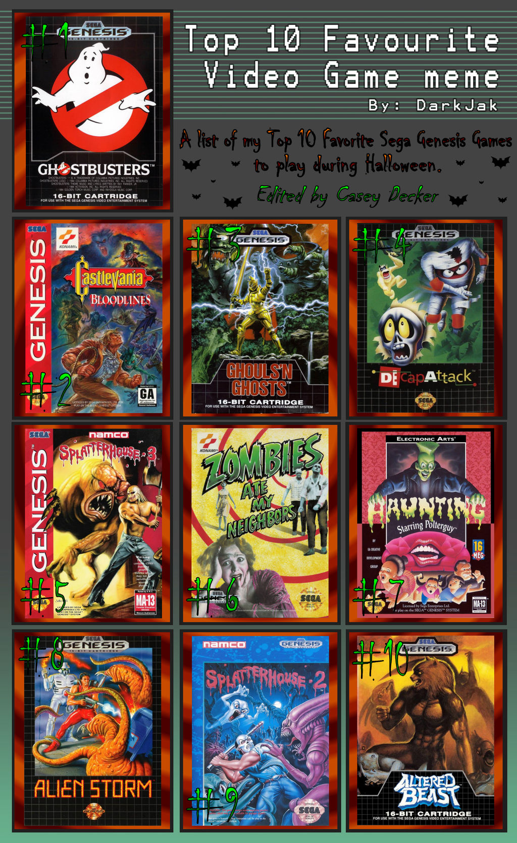 My Top 10 Sega Genesis Games For Halloween by CaseyDecker on DeviantArt