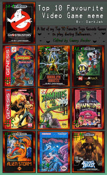 My Top 10 Sega Genesis Games For Halloween by CaseyDecker