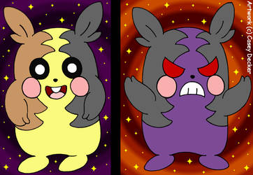 Morpeko: Full-Belly And Hangry by CaseyDecker
