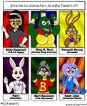 Six Fan Art Characters Meme: Part 1