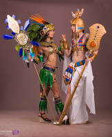 Mia and Hatchepsout cosplay Civilization Online  by NineetNora