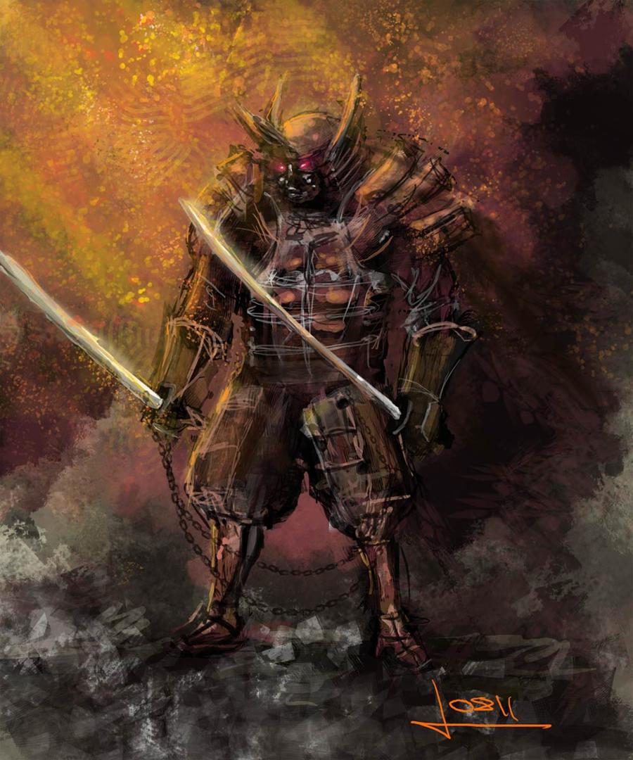demon samurai by vofff on deviantart
