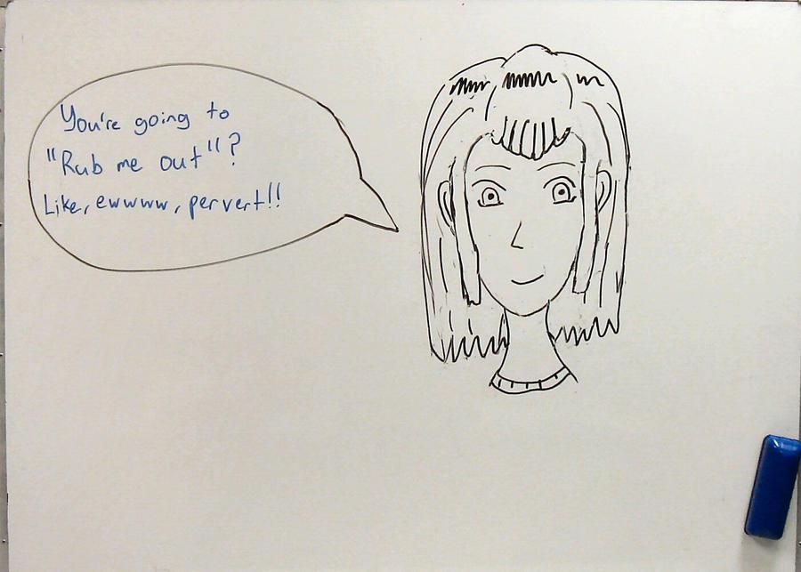 'Emily', a whiteboard doodle by earok