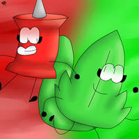 (BFDI) Leafy and Pin