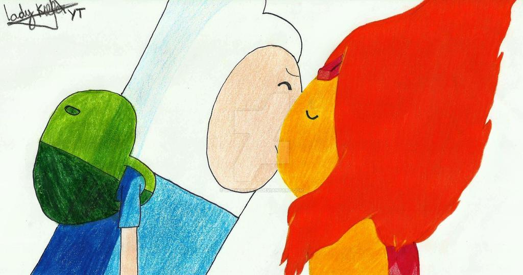 Finn And Flame Princess Kiss