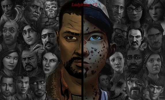 TWD - Lee and Clem (2 sides)
