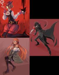 Persona 5 drawins' by Lunaros