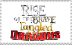 The Rise of The Brave Tangled Dragons stamp by Thetruffulacupcake