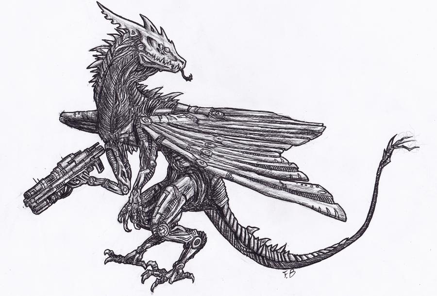robot dragon by remarin on deviantart