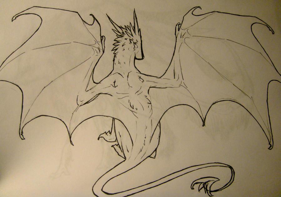 Line Art Dragon : Lineart dragon by remarin on deviantart