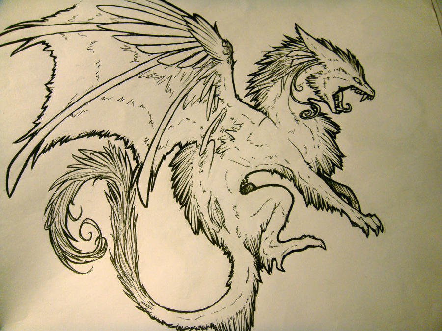 Line Art Dragon : Lineart more dragon by remarin on deviantart