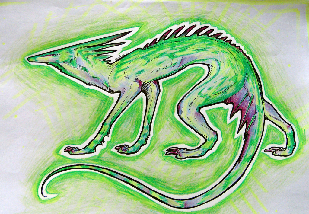 Green Lizard by Remarin
