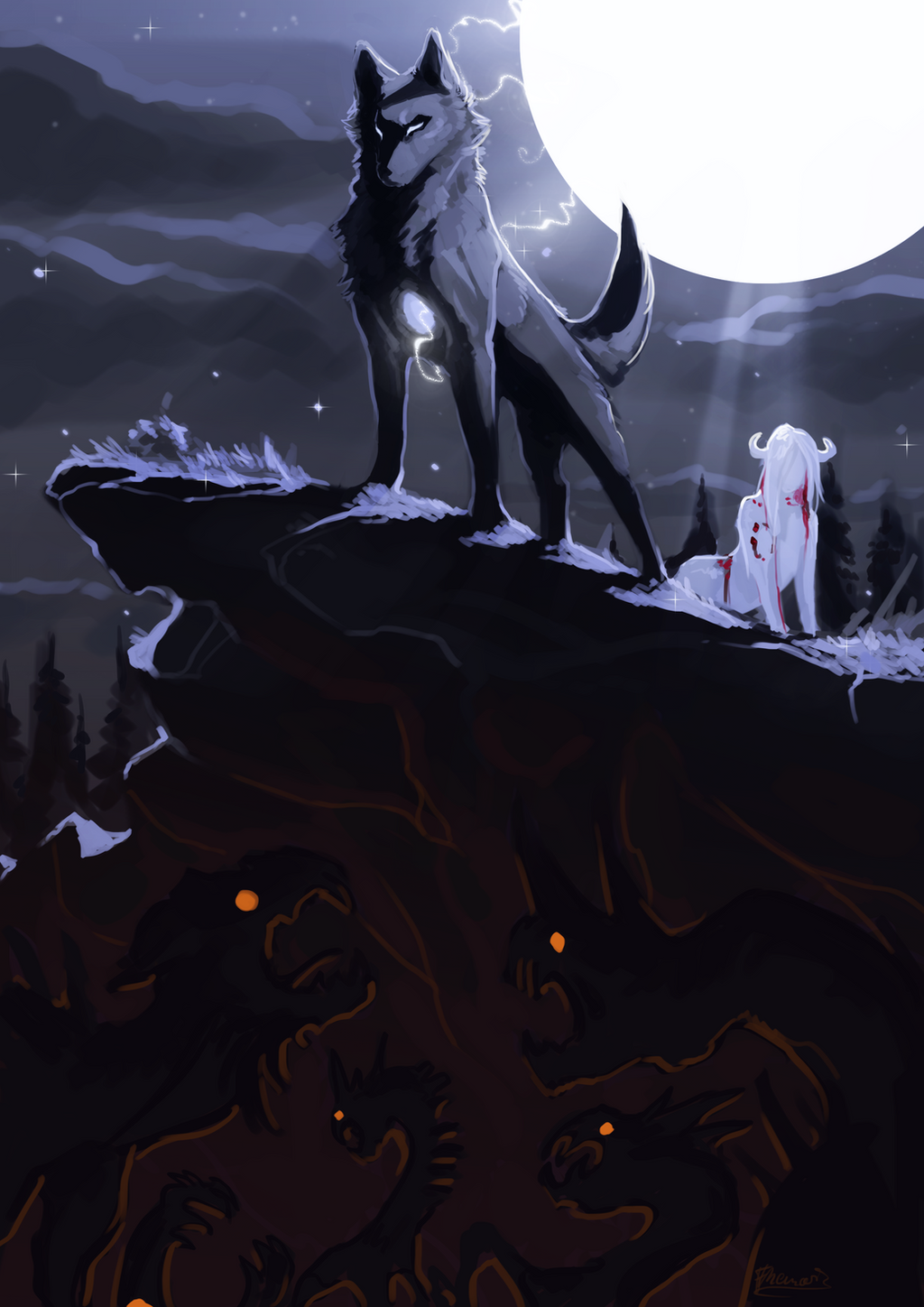 Poem 12 -Wolves save the heart- by Remarin