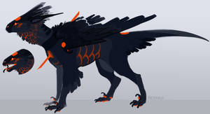 ADOPT -Sold- poofy dragon birb