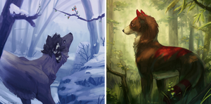 forest vignettes - ych