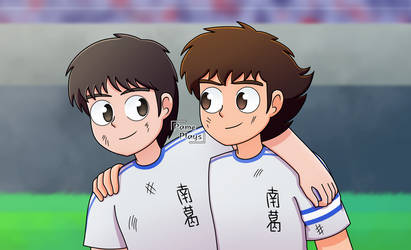 Tsubasa y Misaki by PamePlays