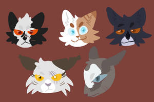 LC lineless cats! by TheShadowBlueLeaf