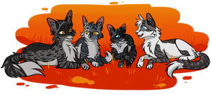 Goosepaw and her sweet family