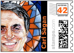 Carl Sagan the Stamp by JimmyDemello