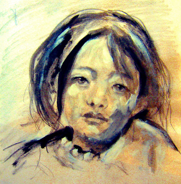 Girl from a Chinese Art Book by JimmyDemello
