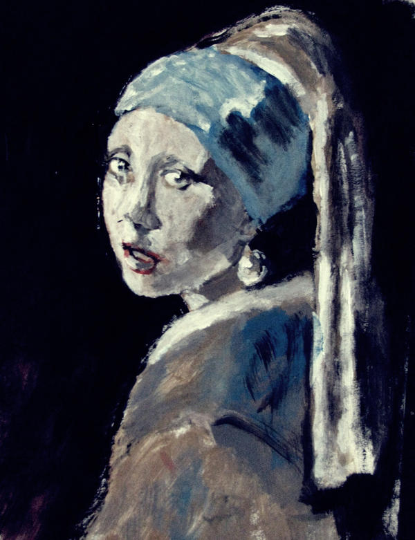 Girl with the Huge Pearl Earring by JimmyDemello
