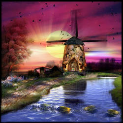 Windmill Sunset