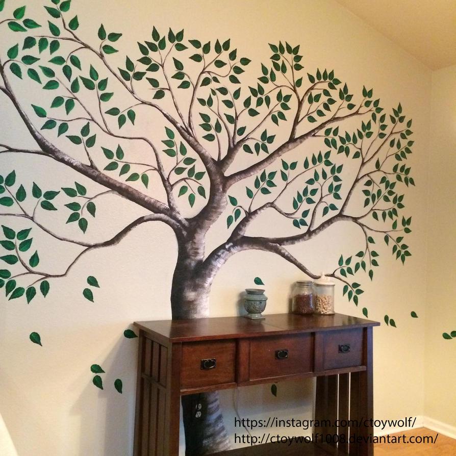 Tree mural by ctoywolf1008 on deviantart for Apple tree mural