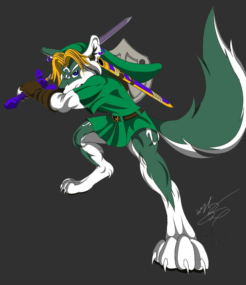 Anthro Wolf Link Color By GunZcon On DeviantArt