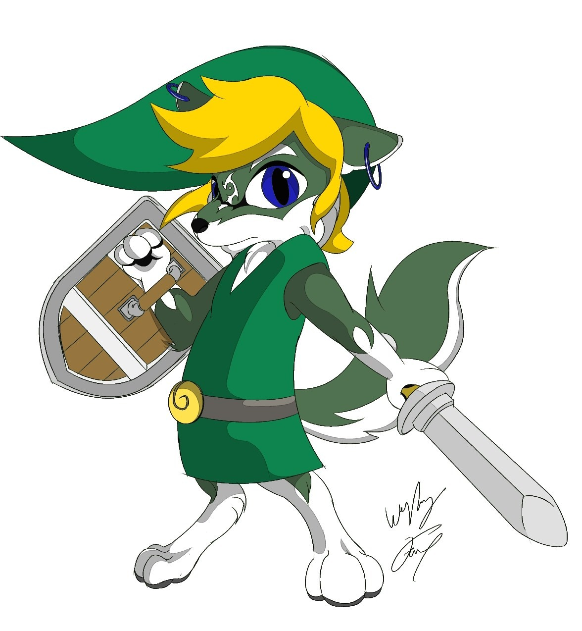 Toon Wolf Link Color by  Toon Link Wind Waker