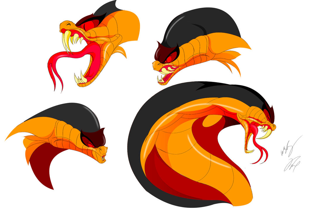 Jafar cobra face color by gunzcon on deviantart - Serpent aladin ...