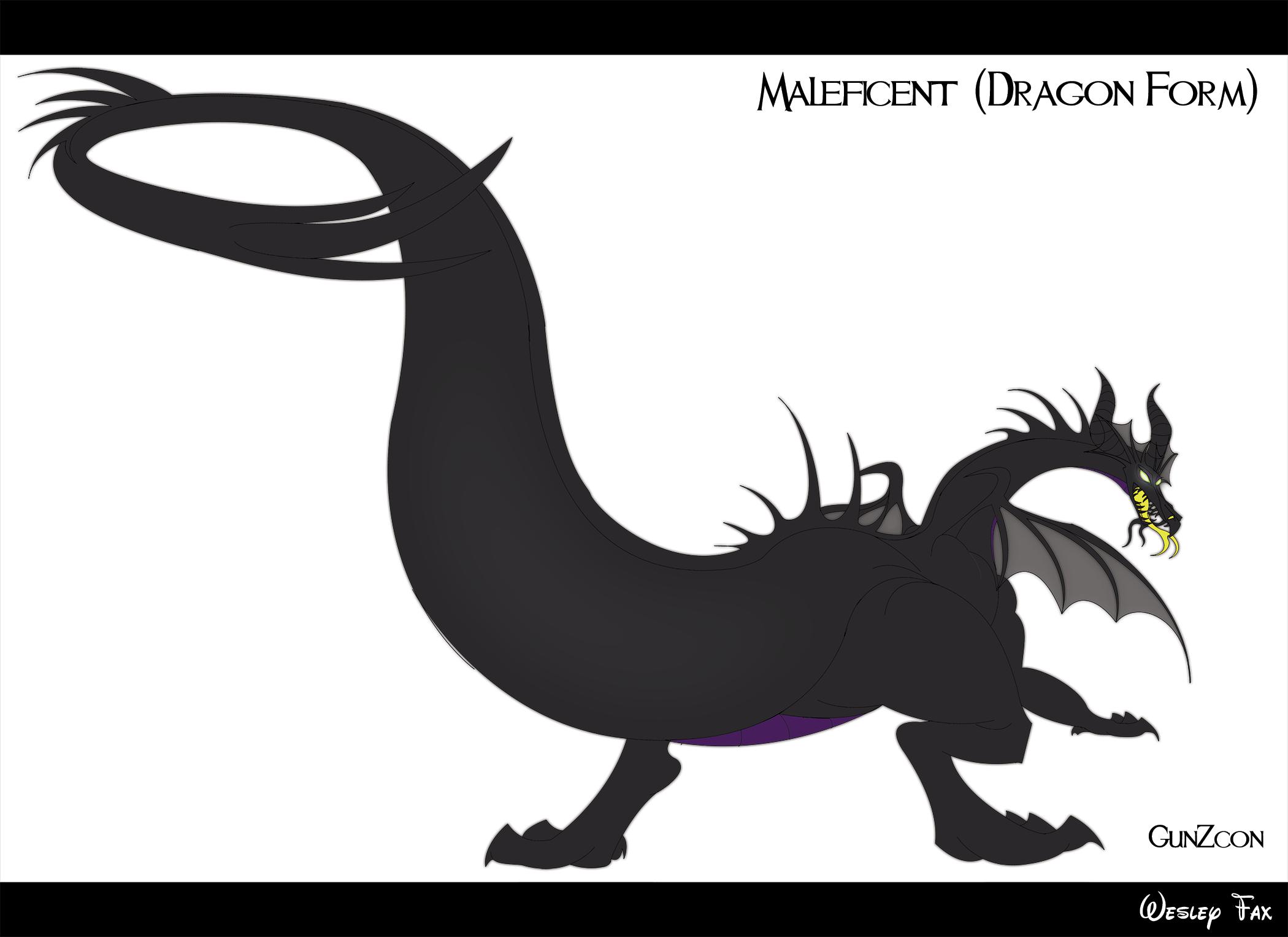 dragon maleficent by gunzcon on deviantart