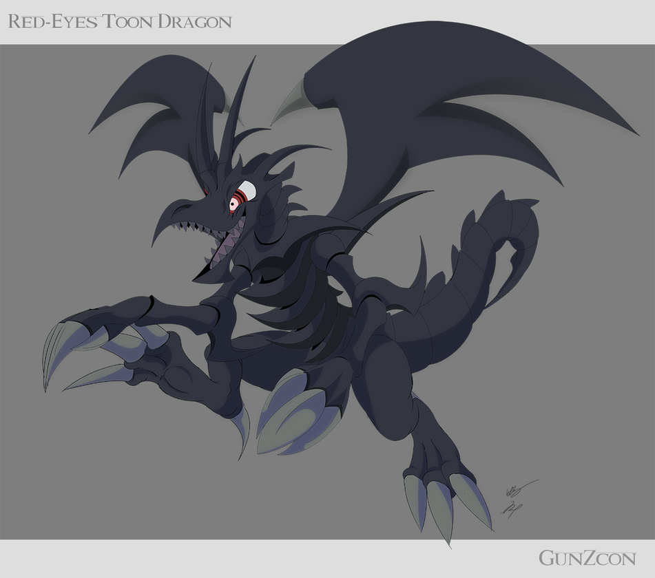 red eyes toon dragon by gunzcon on deviantart