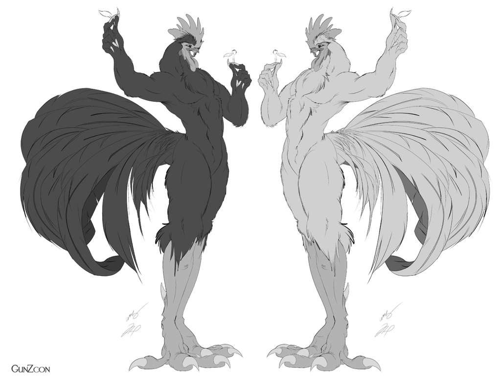 Line Art Rooster : Croad langshan grey scale by gunzcon on deviantart