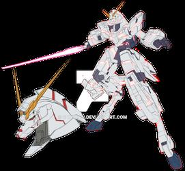 RX-0 Unicorn (Destroy-Mode) NT-D Psycoframe colors