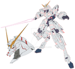 RX-0 Unicorn (Destroy-Mode) NT-D Psycoframe colors