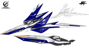 Space Dynamics FX4500 Arwing II model X with Racer