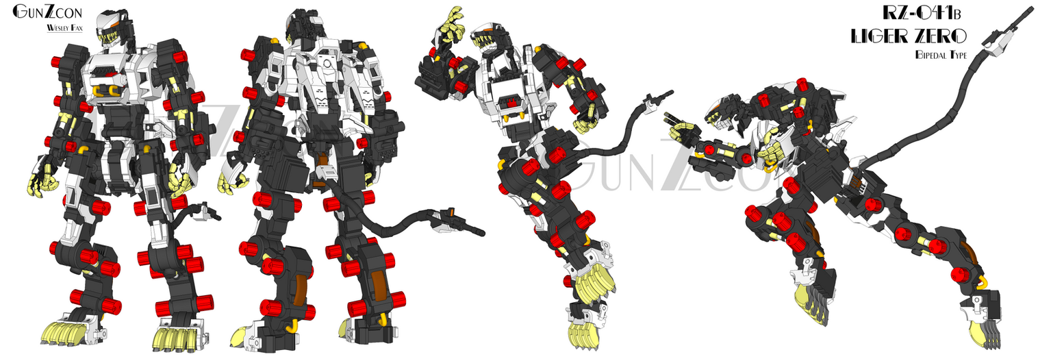 RZ-041B Liger Zero Bipedal Type (Zero Equipment) by GunZcon