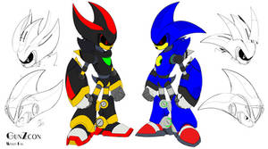 Metal Shadow and Metal Sonic Redesigns