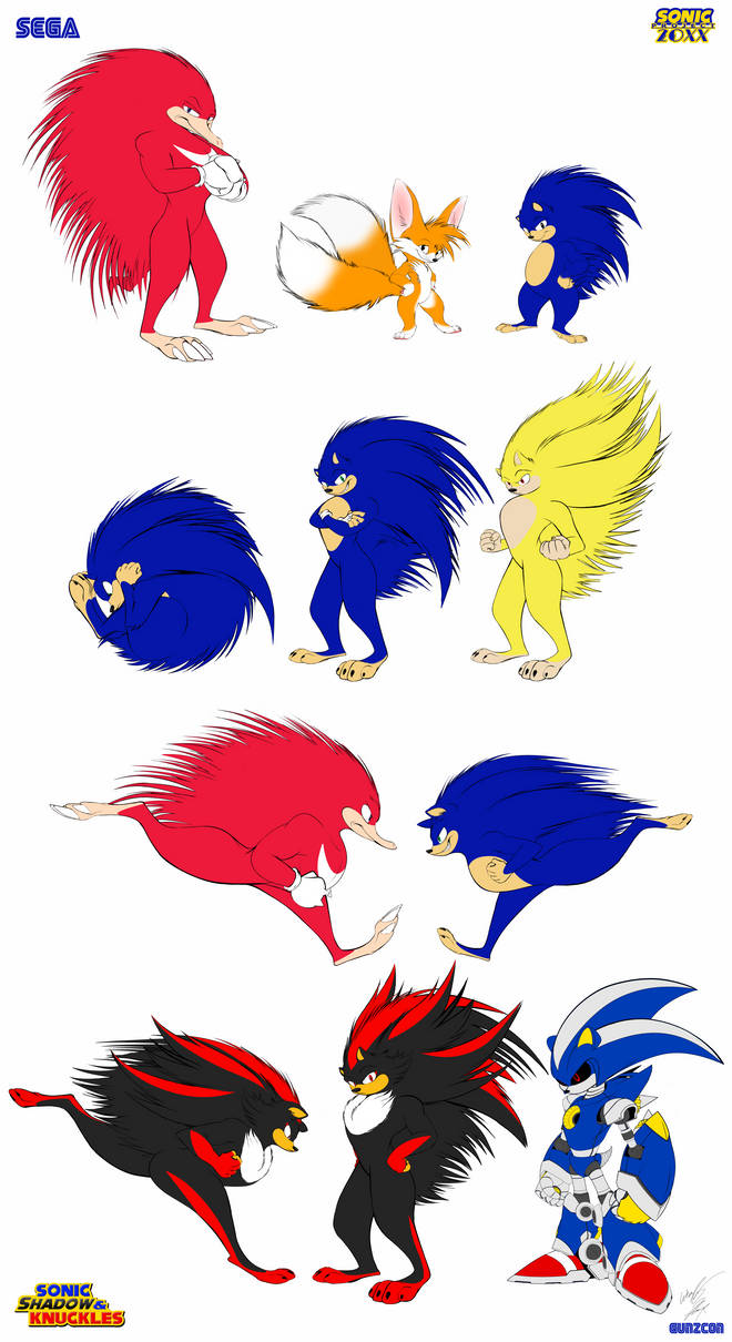 Sonic The Hedgehog series Redesign Final by GunZcon