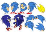 Sonic The Hedgehog Illustration sheet (revised)