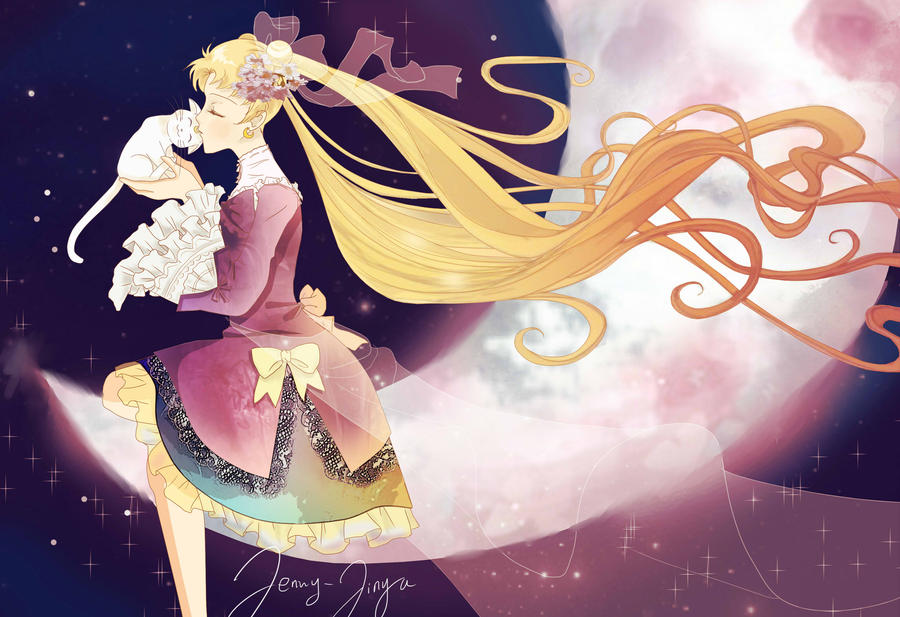 Sailor Moon + Artemis by JennyJinya on DeviantArt