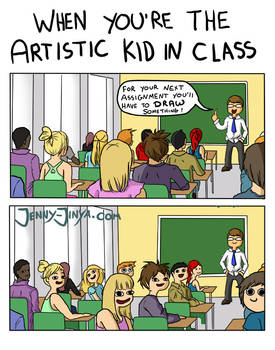 when you're the artistic kid in class